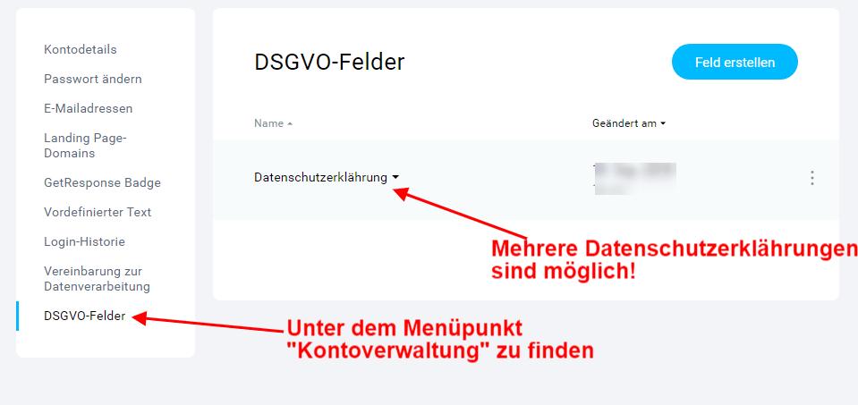 GetResponse-Datenschutzerklährung