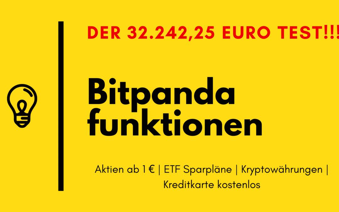 Bitpanda Erfahrungen – der 32.242,25 Euro Test!